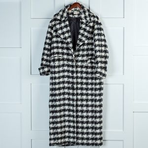 H&M Black and White Pea Coat